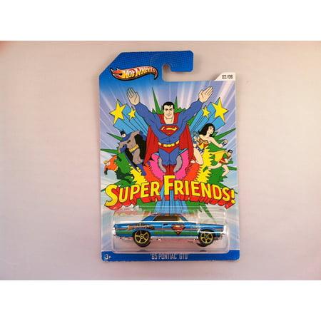2013 Kroger Exclusive Superman Super Friends 65 Pontiac Gto Blue  02 06 By Hot Wheels