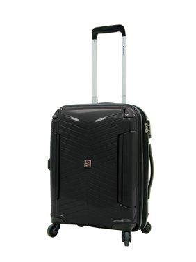 """Samboro Venture 19"""" Expandable Carry-on Spinner Trolley - Black Color"""