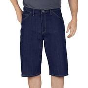 Genuine Dickies Men's 15 inch Loose Fit Washed Denim Short by Genuine Dickies