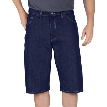 Mens 15u0022 Loose Fit Washed Denim Short