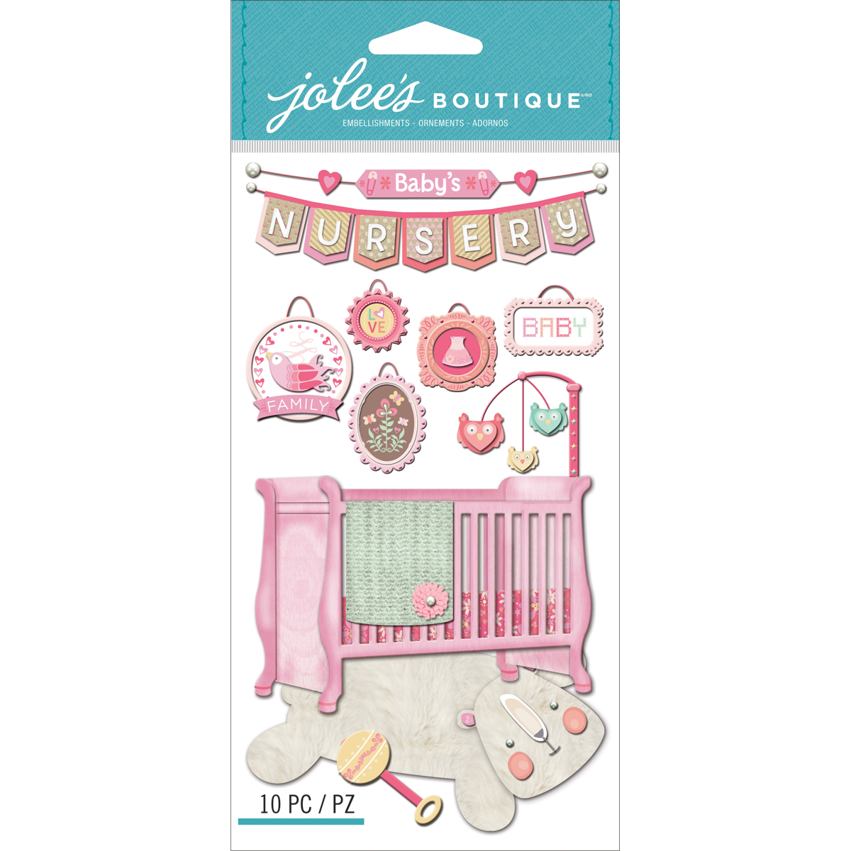 Jolee's Boutique Dimensional Stickers-Baby Girl - Nursery - image 1 of 1