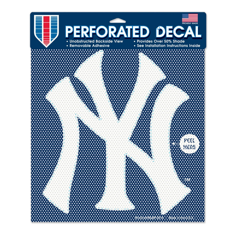12x12 Perforated Decal New York Yankees