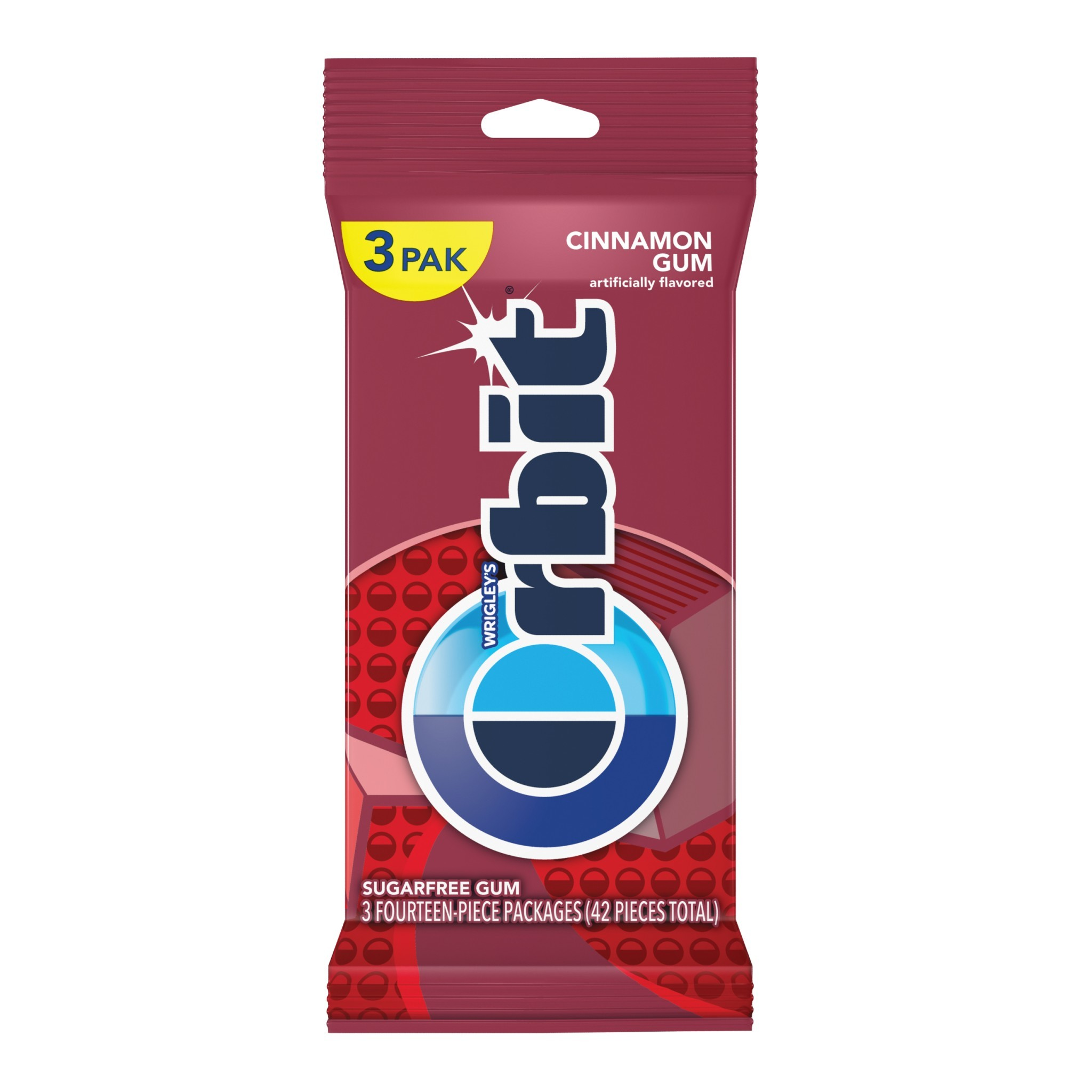 Orbit Cinnamon Sugarfree Gum, multipack (3 packs total)