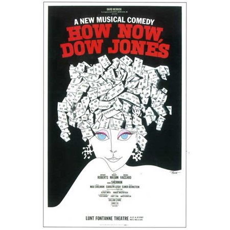 How Now  Dow Jones   Broadway   Poster  14X22