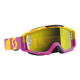 Scott Tyrant Oxide '16 MX Goggles w/Chrome Works Lens Pink/Yellow