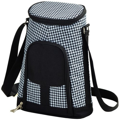 Picnic At Ascot 2 Can Houndstooth Insulated Wine Tote Cooler Walmart Com Walmart Com