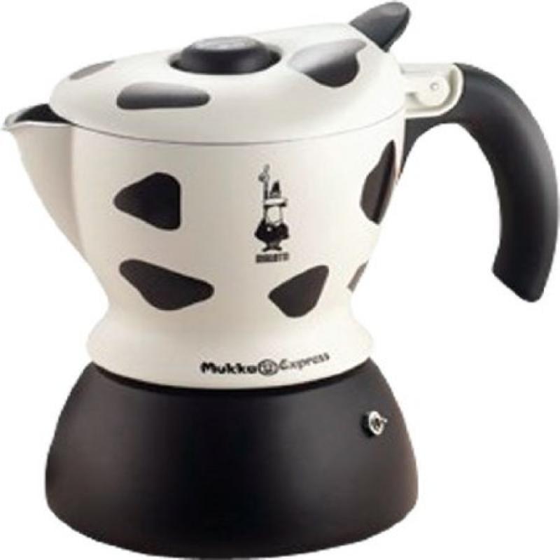 Bialetti Mukka Express 1-Cup Cow-Print Stovetop Cappuccin...