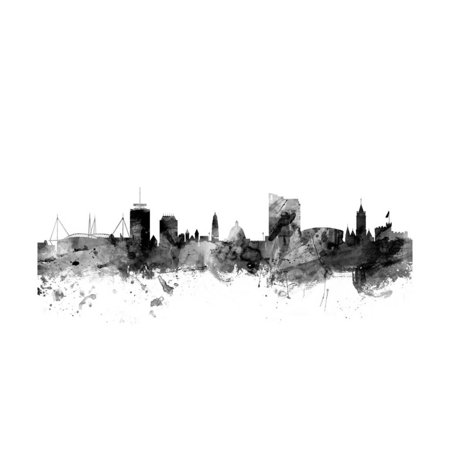Cardiff Wales Skyline Print Wall Art By Michael (Cardiff Wall)