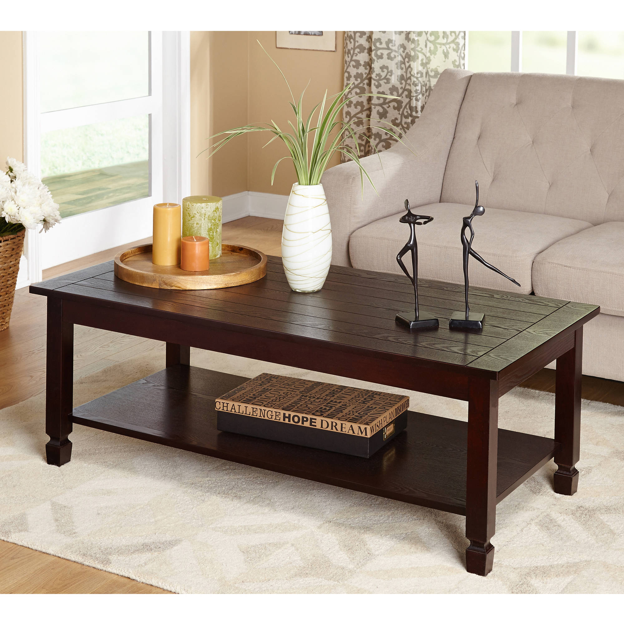Zenith 3Piece Cocktail and End Tables Value Bundle Espresso