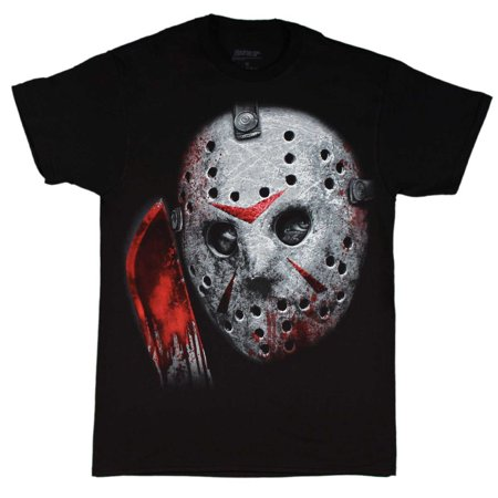 Friday the 13th Jason Voorhees Airbrush Mask Black Shirt (Diy Jason Mask)