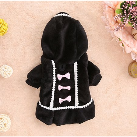 Dog Coat Jacket Pet Supplies Clothes Winter Apparel Puppy Costume - Black Dog Costumes