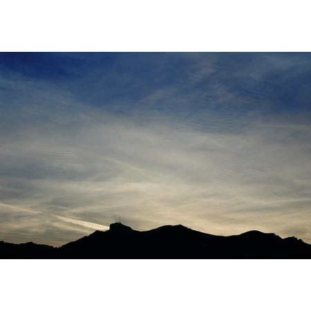 Framed Art For Your Wall Clouds Alpine Nature Sky Blue Evening Mountain 10x13 -