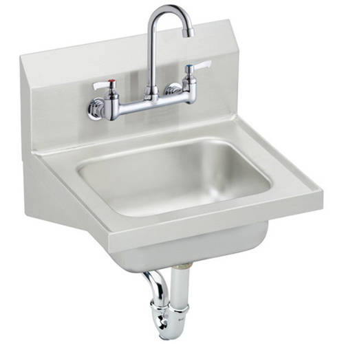 Elkay CHS1716C Commercial Stainless Steel Handwash Sink with 2 Faucet Holes