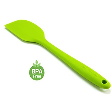 Dishwasher Safe Offset Spatula - Ovente BPA-Free Premium Silicone Spatulas with Stainless Steel Core, 500?F Heat-Resistant, Non-Stick, Dishwasher Safe, Ergonomic Design, Multi-Color ? Green (SP1001G)