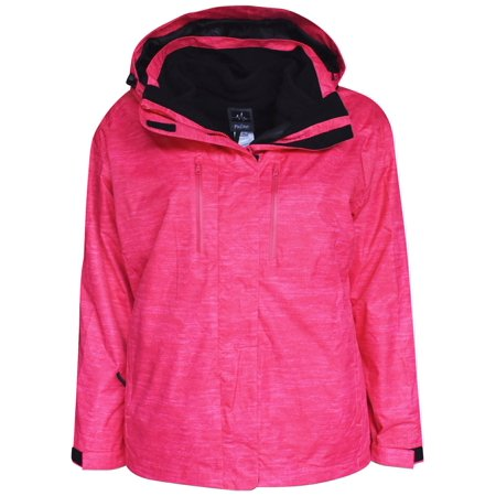 Plus Size Snow White (Pulse Women's Plus Extended Size 3in1 Boundary Snow Ski Jacket Coat 1X -)