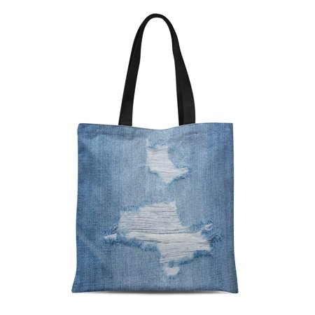 SIDONKU Canvas Tote Bag Canvas Blue Denim Jeans of in Vignette Copy Space Durable Reusable Shopping Shoulder Grocery Bag