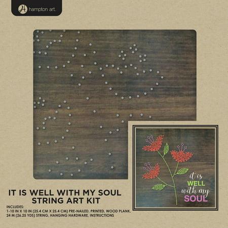"""String Art Kit 10""""X10""""-It Is Well"""