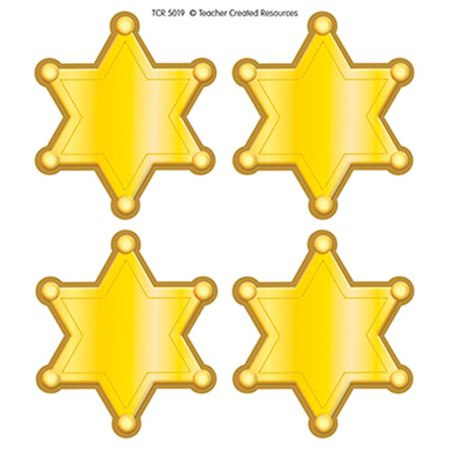 Sherriff Badge (Teacher Created Resources TCR5019 Western Sheriff Stars Wear Em)
