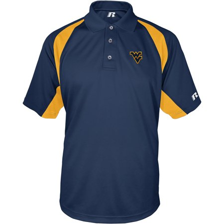 Russell Ncaa West Virginia Mountaineers  Mens Synthetic Polo