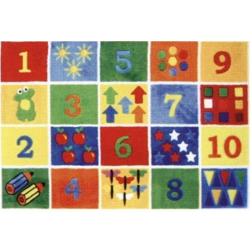 Fun Rugs Supreme Numbers Block Area Rug