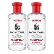 THAYERS Witch Hazel Rose Petal Face Toner, Natural, Alcohol Free with Aloe Vera, Hydrating and Refreshing for All Skin Types, Duo Pack (2 x 355ml)