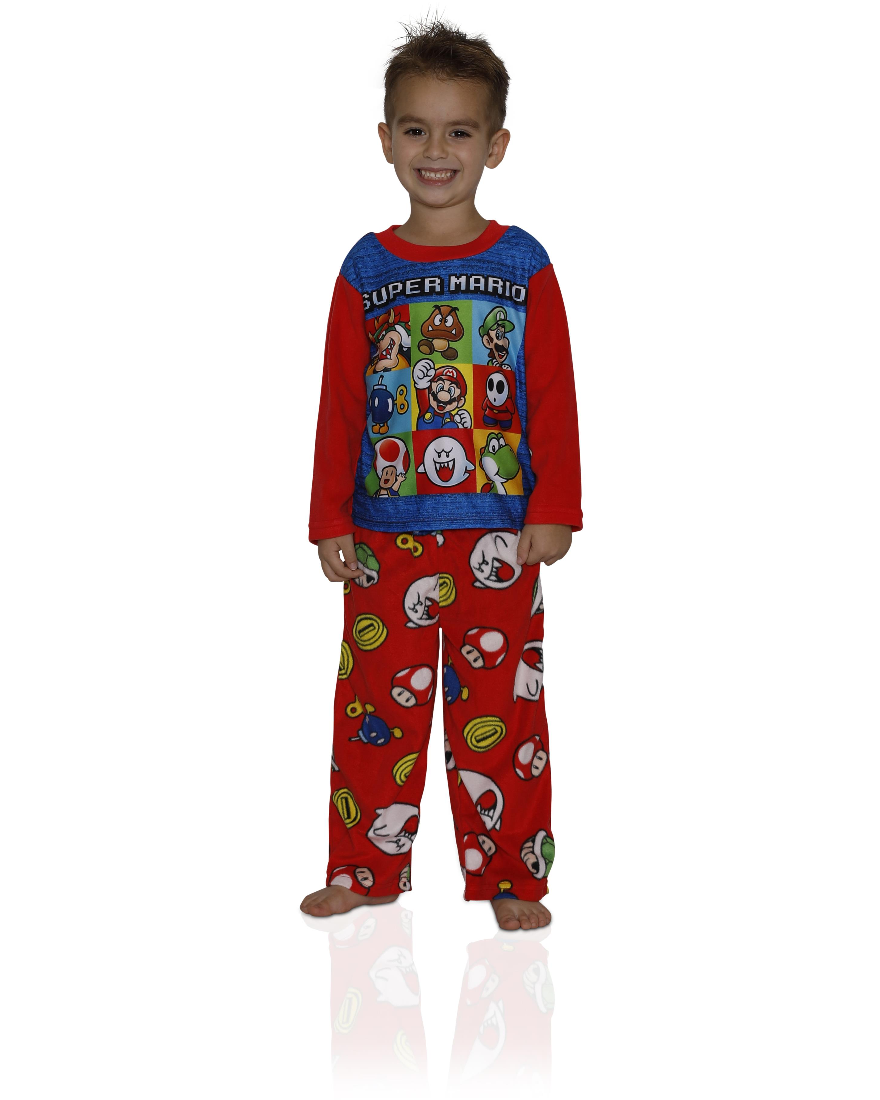 Tops Pants Kid Pajamas Cute Super Mario Children/'s Cartoon Pajamas Set /&