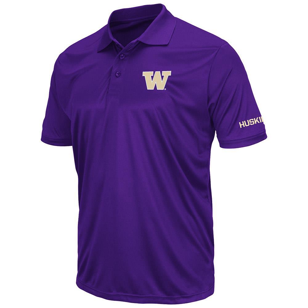 Mens Washington Huskies Short Sleeve Polo Shirt - S