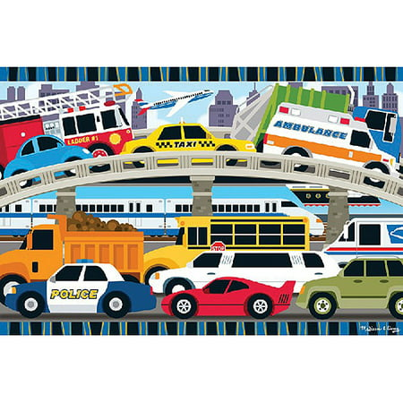 Melissa & Doug Traffic Jam Jumbo Jigsaw Floor Puzzle (24 pcs, 2 x 3 feet long)