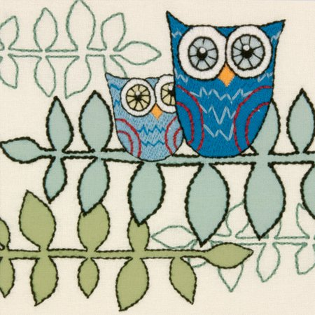 Dimensions Handmade Collection Owl Crewel Embroidery Kit, 10