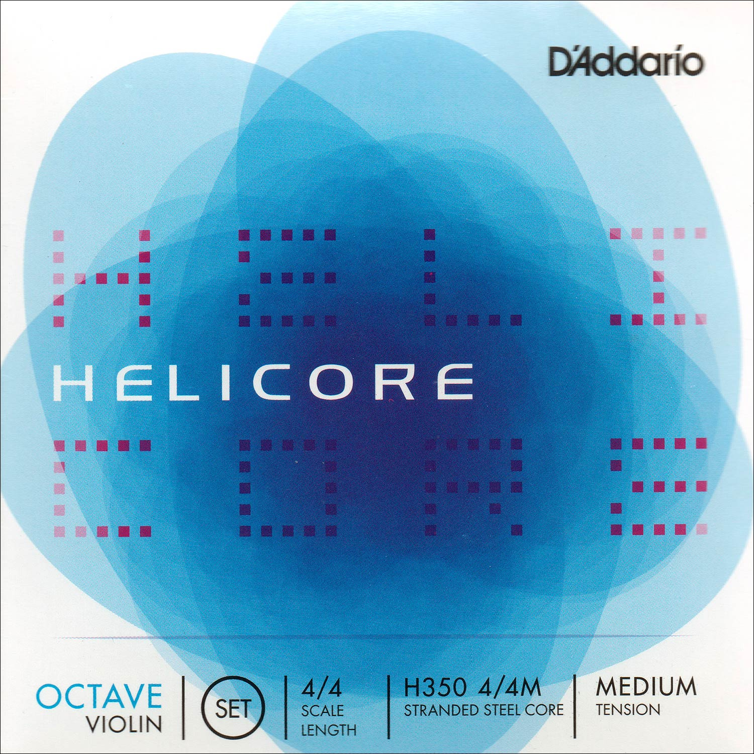 D'Addario Helicore Octave 4/4 Violin String Set - Medium Gauge - Ball End Aluminum Wound Steel E