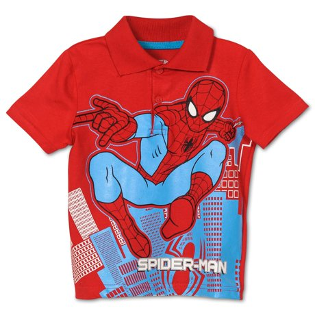 Toddler boys 39 spiderman polo shirt for Toddler boys polo shirts