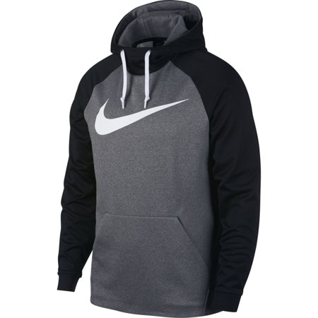 nike 905659 091 mens therma club logo pull over hooded sweatshirt grey black l. Black Bedroom Furniture Sets. Home Design Ideas