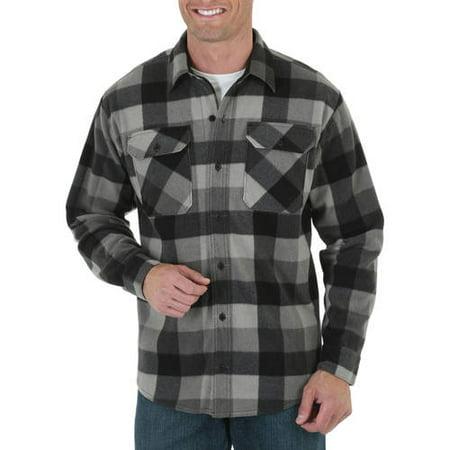 Mens Long Sleeve Fleece Shirt