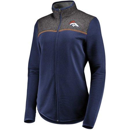 - Women's Majestic Navy Denver Broncos Linear Leap Full-Zip Jacket