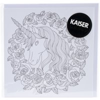 """KaiserColour Gift Card W/Envelope 6""""X6""""-Unicorn"""
