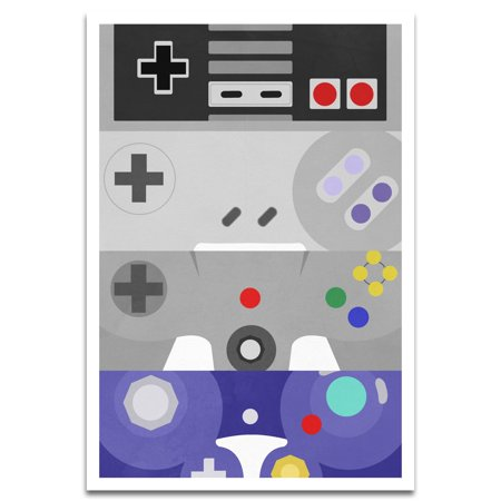 Visionary Prints 'Gamers Best Friends' | Gamer Wall Art - Gamer Art | Modern Contemporary Poster Print, 13x19