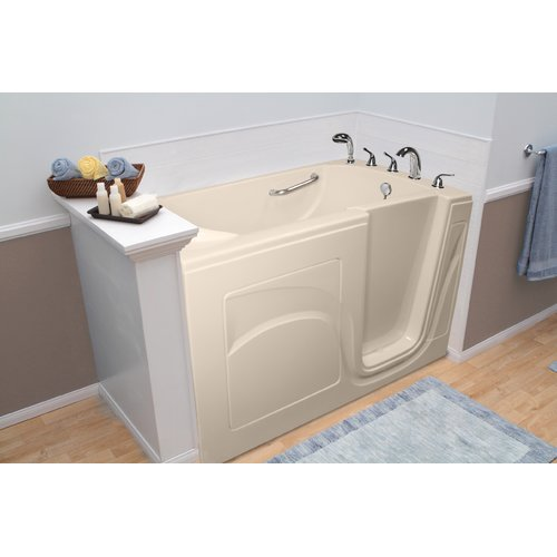 A+ Walk-In Tubs Navigator 54'' x 30'' Whirlpool and Air Jetted Walk-In Bathtub