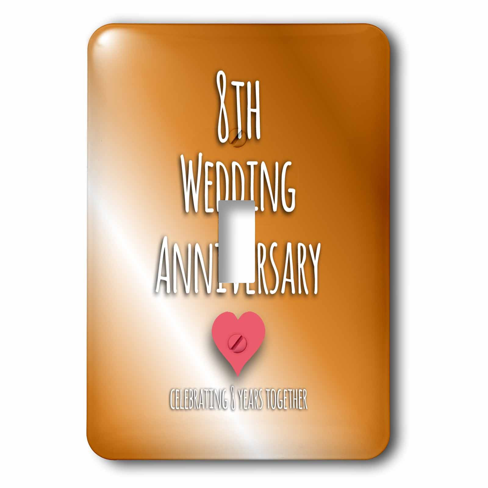 8th Wedding Anniversary.3drose 8th Wedding Anniversary Gift Bronze Celebrating 8 Years Together Eighth Anniversaries Eight Yrs Double Toggle Switch