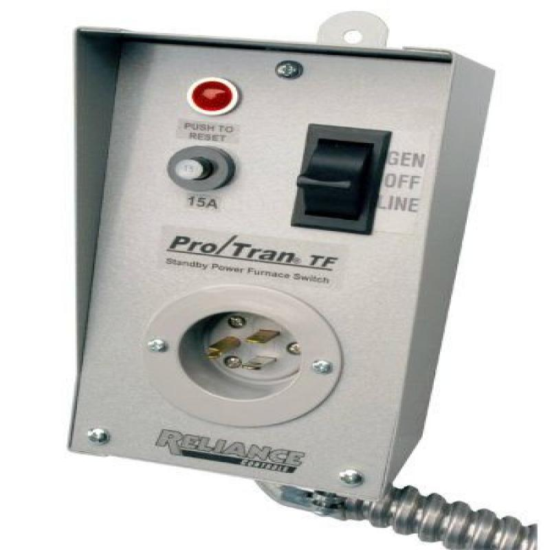 Reliance Control TF151W Generator-to-Furnace Transfer Switch