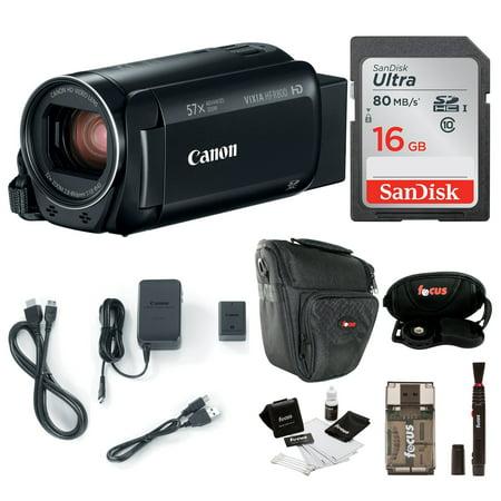 fceefc50c03 Canon VIXIA HF R800 Camcorder (Black) with 16GB Essential Bundle -  Walmart.com