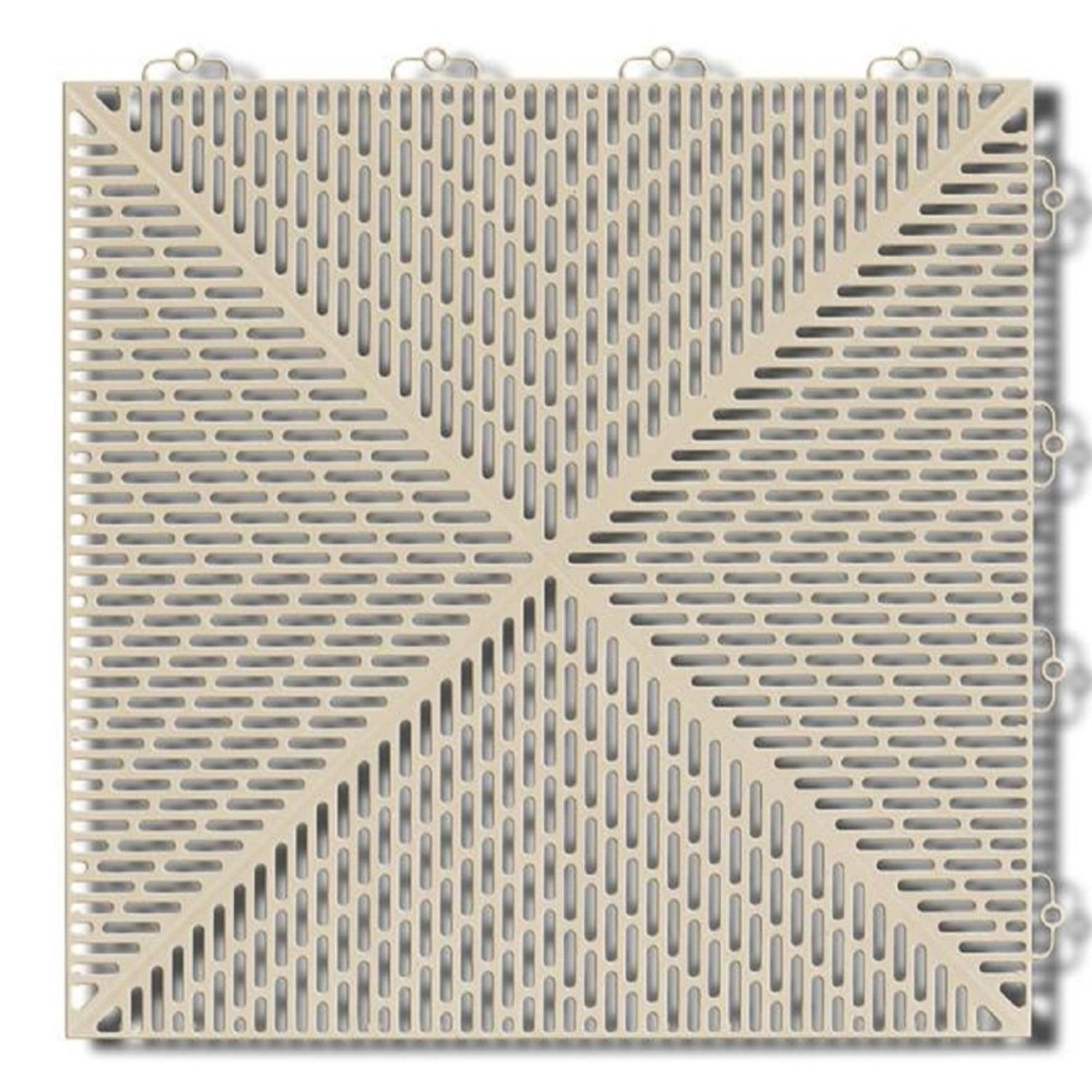 Mats Inc. Bergo Soft Loose Lay Interlocking Wet Area Floor Tiles, Light Blue, 2.46' x 3.69', 6 Pack