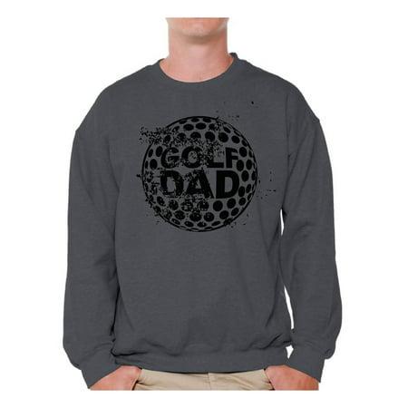 e780779e Awkward Styles Men's Golf Dad Graphic Sweatshirt Tops Black Golfing ...