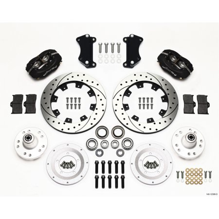 Wilwood Forged Dynalite Front Kit 12.19in Drilled Heidts Tri -5 2 inch Drop Spindle