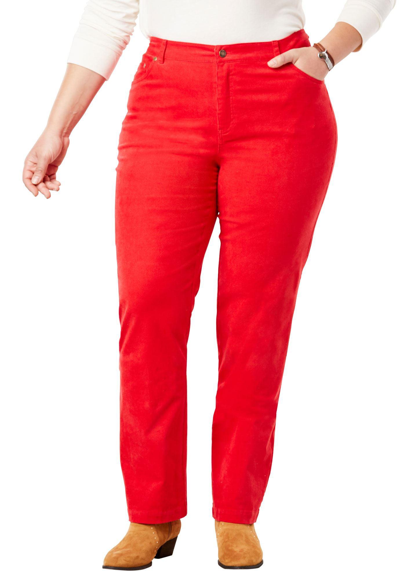 Plus Size Corduroy Straight Leg Stretch Pant