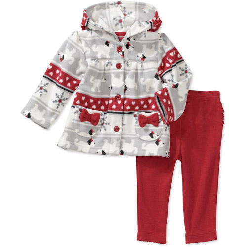 Child of Mine Carters Newborn Girls' 2-Piece Nordic Fleece Hoodie and Pant Set