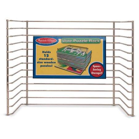 Whip Rack - Melissa & Doug Puzzle Storage Rack, Wire Rack Holds 12 Puzzles