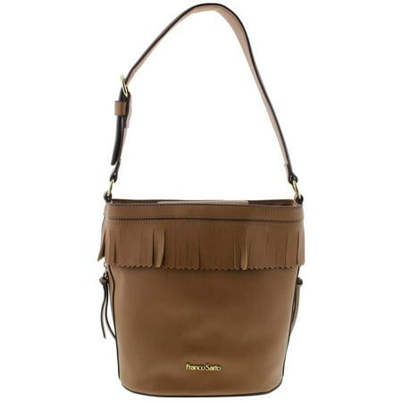 Franco Sarto Womens Sarah Faux Leather Hobo Bucket Handbag