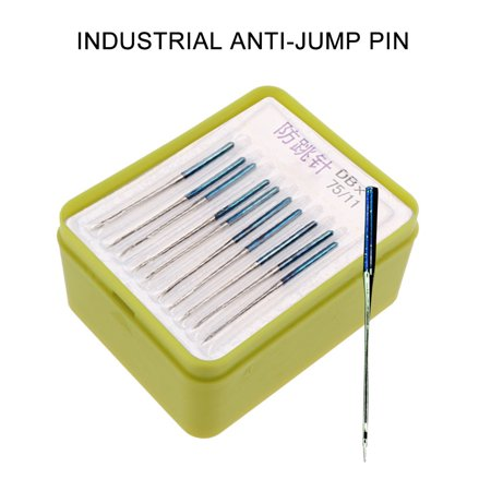 Industrial Anti-jump Pin Sewing Machine Needle Sewing Machine Accessories Industrial Anti-jump Pin Sewing Machine Needle Sewing Machine Accessories Feature:10 specifications for your choice.10 PCS per board and 10 boards per box.Quantity: 100PCSNeedle body is made of metal, durable and corrosion resistent.Needle handle is semi-circular, smoothness without burrs.Applicable machines: flat car, computer flat car.Useful tool for daily use, making your life more convenient and cozy.Size: Needle length 38mmProduct use: for tailoring cosmetic bags, etc.Note: The dimensions are measured manually, and there may be errors! Package included:1 box of sewing machine accessories