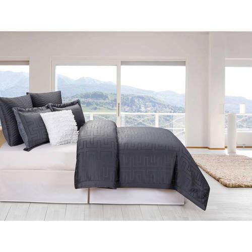 Schillman 6 Piece Oversize & Overfilled King Comforter Set in Grey