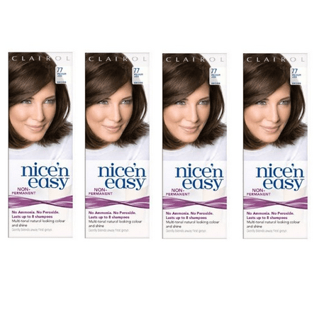Clairol Nice N' Easy Hair Color #77, Medium Ash Brown (Pack of 4) Uk Loving (Best Home Hair Dye Uk)